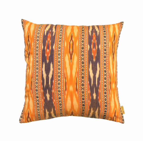 Amber Ikat Cushion