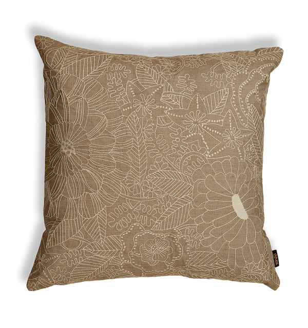 Beige Floral Dimension Cushion