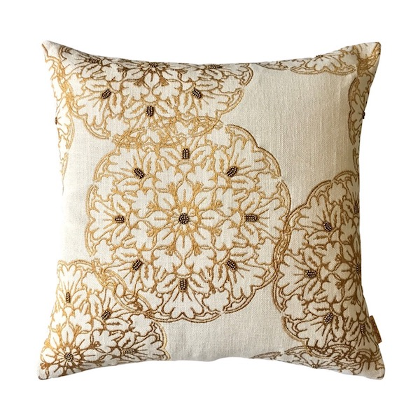 Embellished Circle Cushion