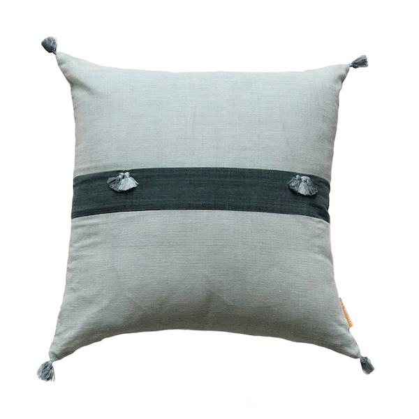 Minas Khadi Dual Stripe Cushion