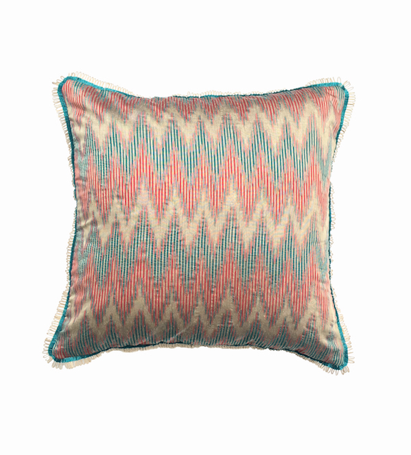 Multi Chevron Ikat Cushion
