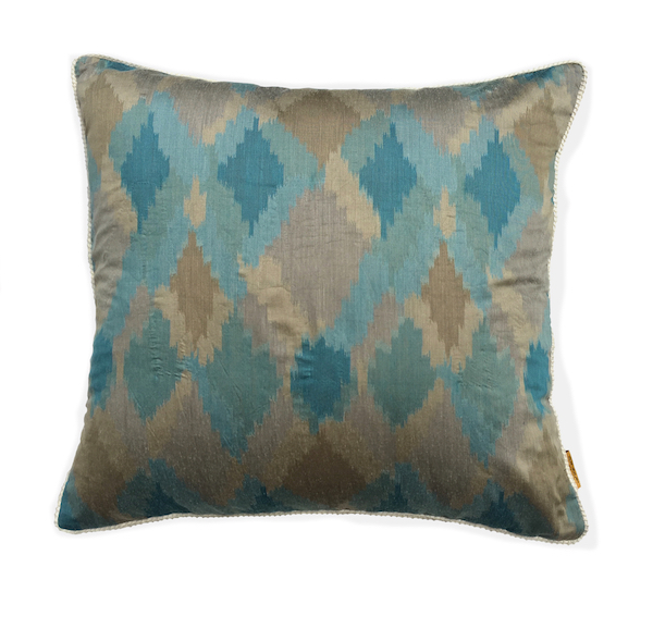 Multi Diamond Ikat Cushion