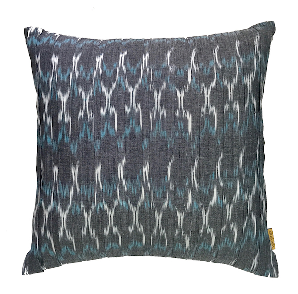 Pleated Ikat Cushion