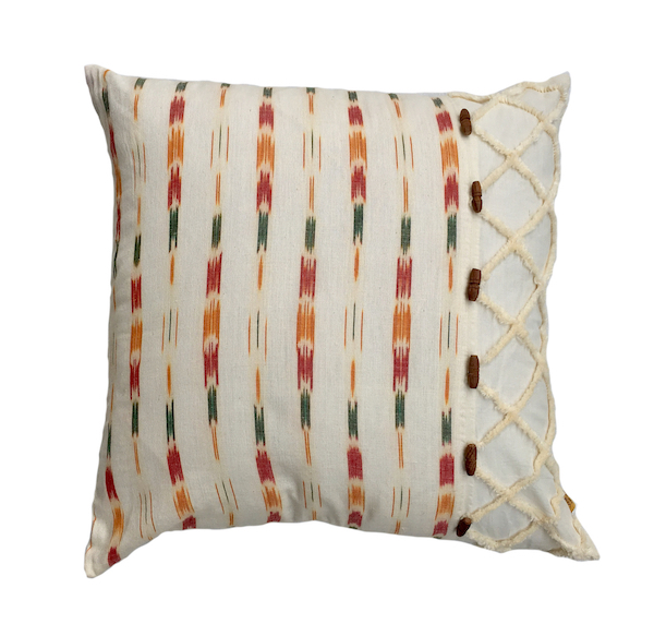 Vertical Cubic Ikat Cushion